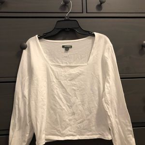 Square neck cropped long sleeve